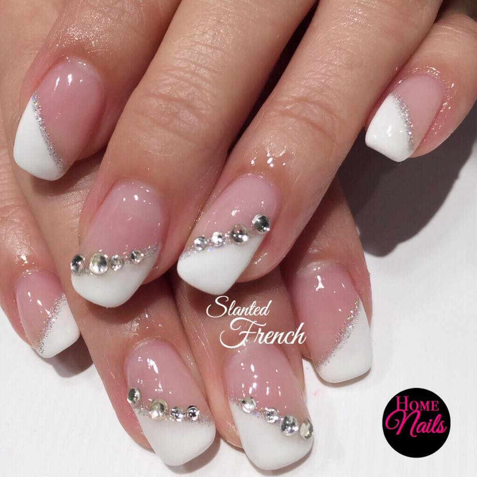 french manicure designs with crystals images galleries with a bite. Black Bedroom Furniture Sets. Home Design Ideas