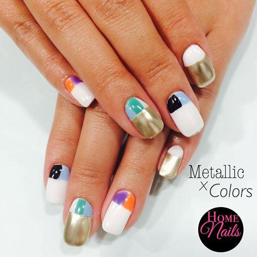 Metallic Hues Nail Art
