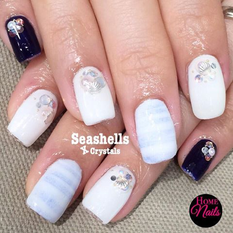 Beach themed gelish nail art homenails beach themed gelish nail art prinsesfo Image collections