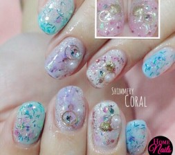 Gallery homenails ethereal coral gelish nail art prinsesfo Images